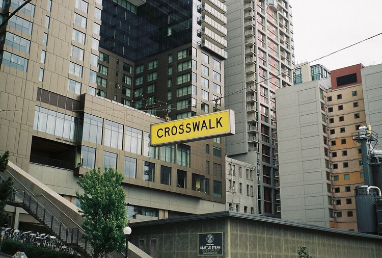 Seattle Film Film Photography Filmisnotdead Analogue Photography 35mm Film Contaxt2 Minimalism Crosswalk