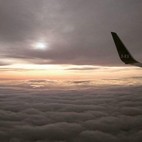 Beautiful flight home from Stockholm to Jämtland. Sunset Cruisingaltitude Vinglet Boeing737 Sas Staralliance