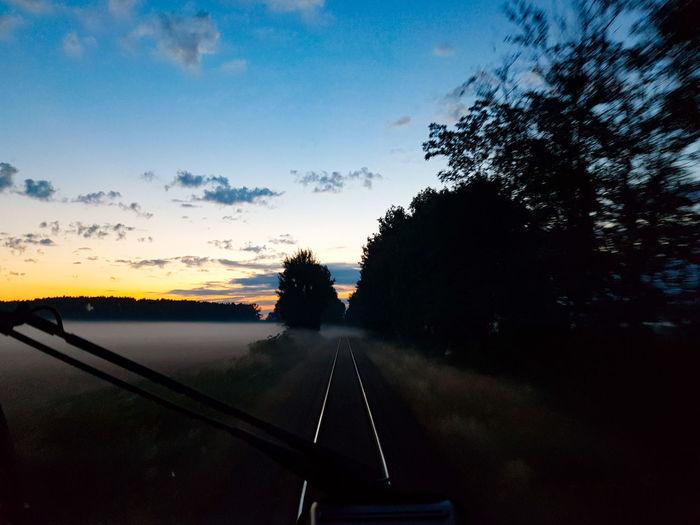 Sunrise Sunrise Sunrise_Collection Train Train Tracks Spremberg Germany Tree Sunset Sky Landscape My Best Travel Photo A New Beginning Capture Tomorrow The Mobile Photographer - 2019 EyeEm Awards