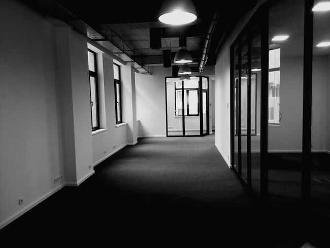 Office Building Indoors  Illuminated Office