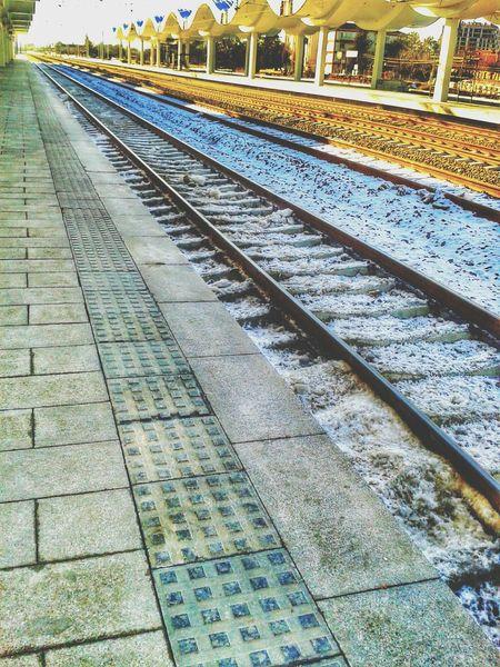 Taking Photos Yht Eskişehir Istanbul Winter Snow ❄ Rail View