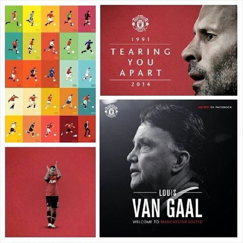 Thank You Very Much Ryan Giggs, the first and last player from the class of '92 to step down as a player and now he is the asisstant manager to our new manager Louis Van Gaal. GiggsLegend LouisVanGaal WelcometoManchesterUnited @manchesterunited.
