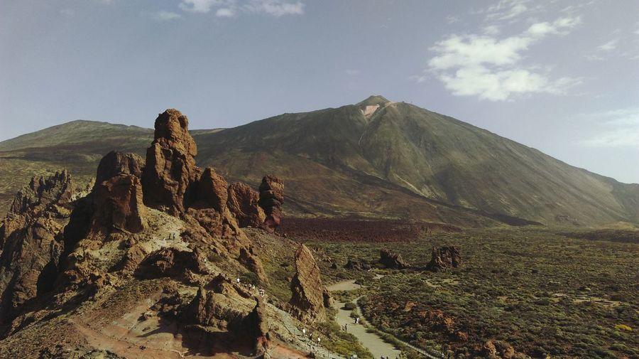 Mountain Lava Rocks Rock Formation Craggy Rocks Feel The Journey Tenerife Teide Vulcan Vulcanic Landscape Landscape Teide National Park Beauty In Nature Landscape_photography Adventure Travel Point Of View