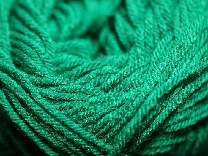 Full frame shot of green rope