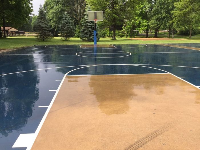 Scenic view of basketball court