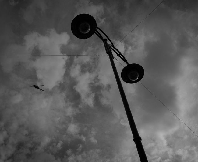 Sky Low Angle View Cloud - Sky No People Outdoors Day Nature Helicopter Blackandwhite EyeEmNewHere The Great Outdoors
