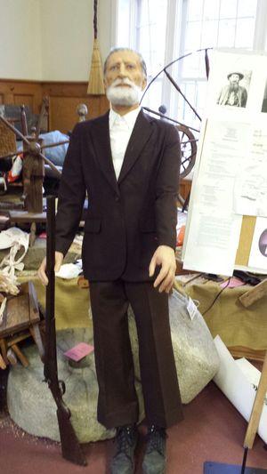Randsl McCoy greets visitors to the Big Sandy Heritage Museum, Pikeville Ky