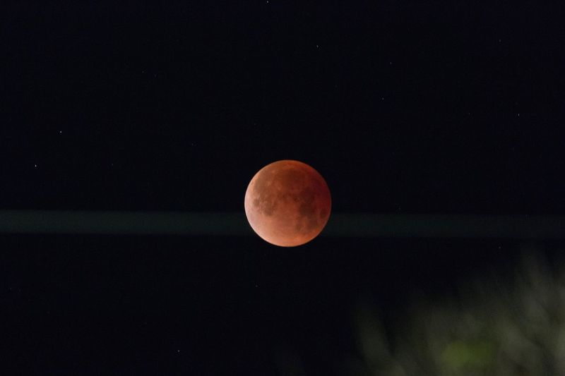 Super Blue Blood Moon California Totale Mondfinsternis January Blue Moon Blood Moon Lunar Eclipse 2018 Moon Astronomy Beauty In Nature Night Nature Moon Surface Full Moon Tranquil Scene Outdoors Sky