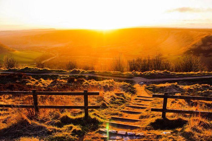 Sunset Horcum Dyke Countryside Yorkshire North Yorkshire Nature Sunshine Sun Light Rays Of Sunshine Rays Of Light Natural Erosion Erosion Control Walking Beautiful Scenic Peaceful Awe Inspiring Landscape