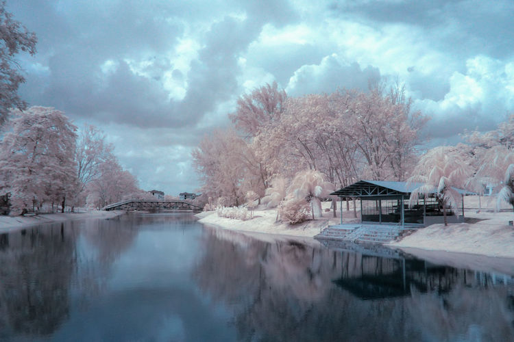 Infrared Photography Infrared Tree Reflection Cloud - Sky Water Beauty In Nature Lake Sky