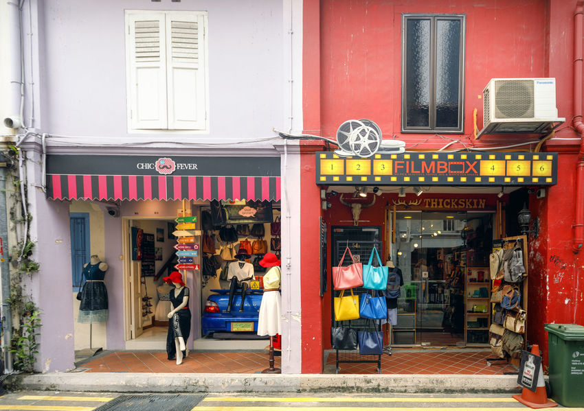 Haji Lane - colourful heart of Singapore Adult Architecture Awning Building Exterior Built Structure City Day DoorsAndWindowsProject Full Length Haji Haji Lane, Singapore Hajilane Kampong Glam Men Old City Outdoors People Real People Singapore Singapore City Singapore View Singaporestreetphotography Store Windows Women