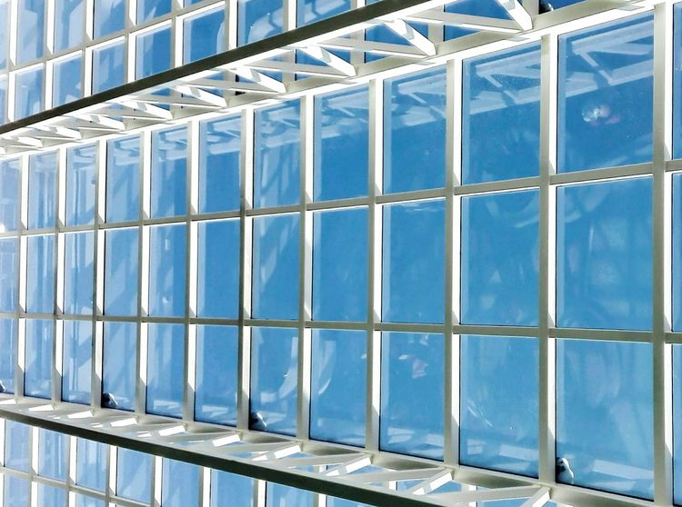 No Filters  Smartphonephotography Going Ship Roof Glassroof Traveling From My Point Of View Unevensurface Textures And Surfaces Taking Photos Transportation Pattern, Texture, Shape And Form Blue Wave Blue Sky White White And Blue
