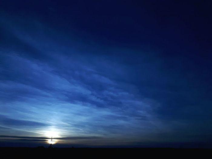 Calm Sky Filtered Image Night Sunset Sunset