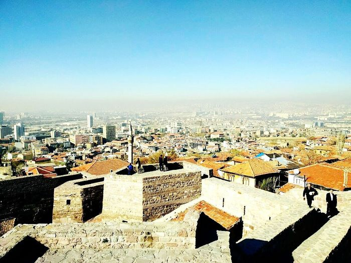 The beautiful city of izmir Architecture Cityscape Building Exterior Built Structure High Angle View Clear Sky Skyscraper Travel Destinations Outdoors City Tranquility Time To Reflect