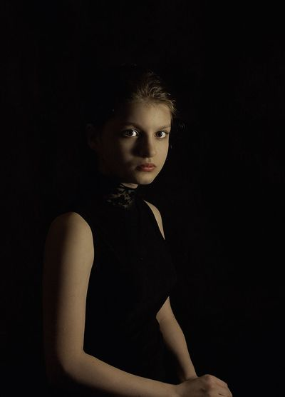Portrait Black Background Studio Shot One Person Looking At Camera One Woman Only People Adult Child Doll Females One Young Woman Only Young Adult Beauty Girls Human Body Part Human Face