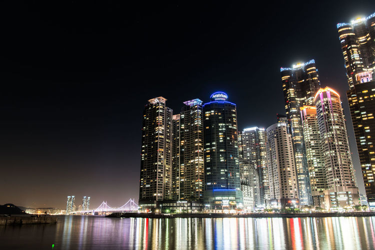 Night Architecture Illuminated Built Structure Building Exterior City Building Water Office Building Exterior Skyscraper Modern Sky Waterfront Tall - High Urban Skyline No People Cityscape River Landscape Outdoors Financial District