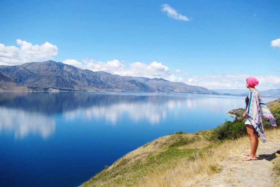 New Zealand New Zealand Scenery New Zealand Landscape New Zealand Beauty Neuseeland Landscape Lake Lake View See Myself Mountains Lake Hawea Hawea The Great Outdoors - 2016 EyeEm Awards Nature's Diversities WorldTrip Worldtraveler Traveling The Essence Of Summer Girl Power Feel The Journey Original Experiences People And Places