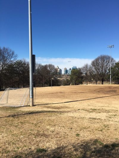 These city fields are waiting to be played on again. Atlanta Atlanta Ga Sports Fields Sports Fields Athletics Athletic Fields Skyline
