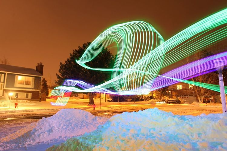 Light Drawing With A Helicopter.
