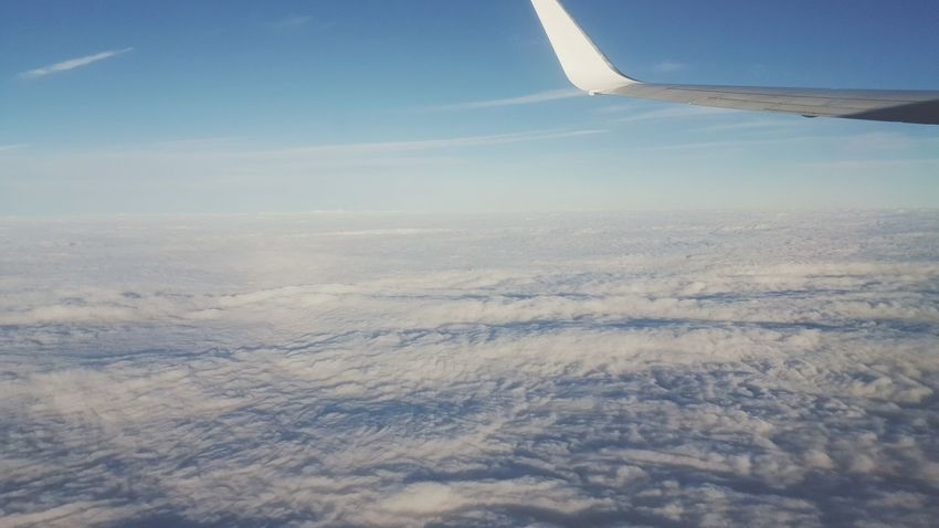Friendly skies Flying Aerial View Landscape Nature Cloud - Sky No People Sunlight Day Outdoors Flying High Sommergefühle