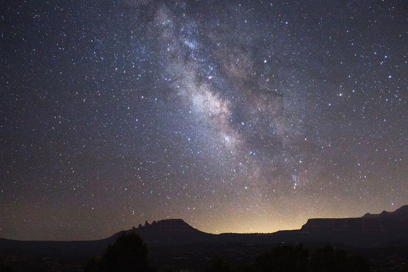 The Milky Way in AZ 🌌 Star - Space Night Astronomy Milky Way Tranquil Scene Landscape Scenics Nature Galaxy Space Constellation Sky Mountain Outdoors No People Tranquility Arizona Sedona