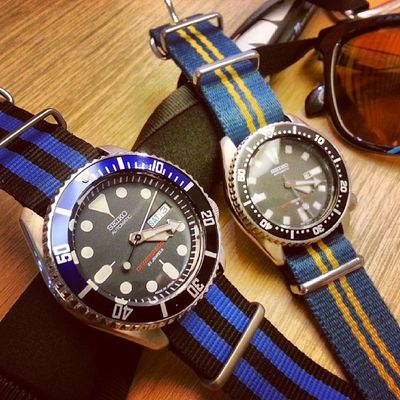 Seiko Diver out on a date Skx009j 4205 shashark