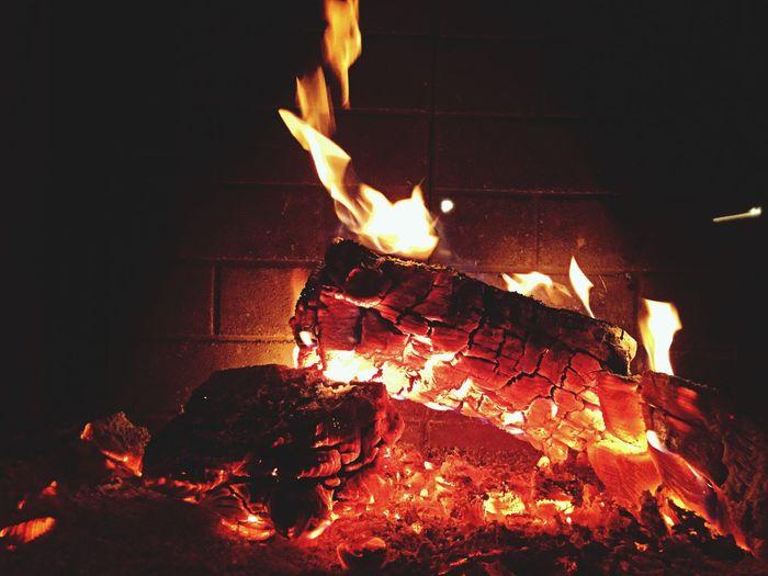 """Nice Fire After the """"Krampuslauf"""" in Breitenfurt"""