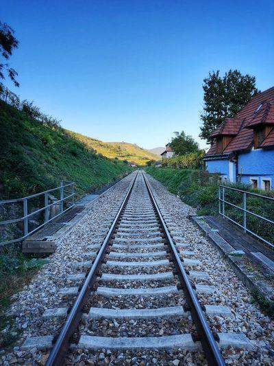 Rail tracks in