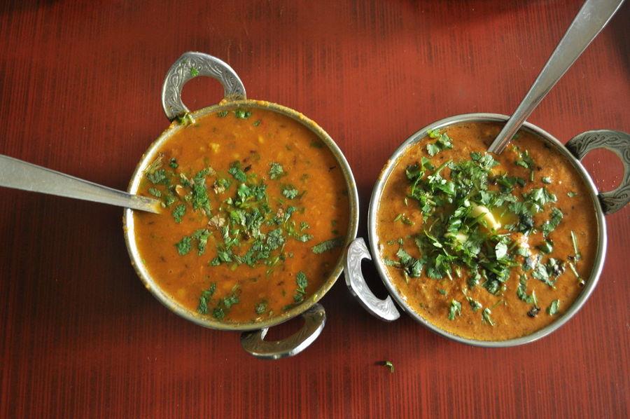 Garlic India Lunch Spicy Colorful Coriander Delicious Lentils Local Food Orange Color Tasty