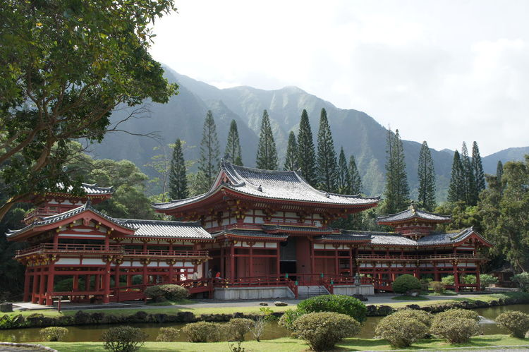 Architecture Beauty In Nature Building Exterior Built Structure Day Mountain Nature No People Outdoors Sky Temple Tree
