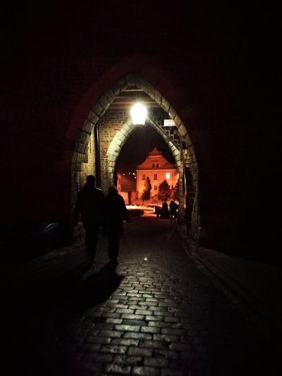 Brama - Sandomierz, City Architecture People Night Illuminated