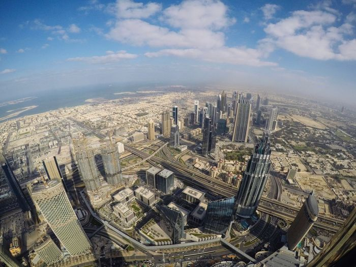 view from top of the Burj Khalifa in Dubai 😎 Dubai Dubai❤ Burj Khalifa The Week on EyeEm Rooftop EyeEm Selects Cityscape City Skyscraper Aerial View Urban Skyline High Angle View Architecture Sky Office Building Tower Tall - High Building Story Skyline Building Panoramic Urban Sprawl High Rise Tall
