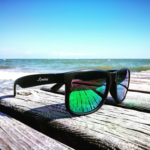 Beach Sea Horizon Over Water Sand Water Blue Day No People Outdoors Sunlight Sky Nature Shadow Clear Sky Horizon Beauty In Nature Sunglasses Newfeel
