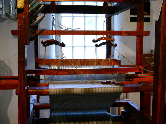 Quarry Bank Mill Indoors  Industry Wood - Material No People Loom Factory Manufacturing Equipment Equipment Machinery Workshop Textile Thread Weaving Absence Manufacturing Metal Architecture Art And Craft Business Metal Industry