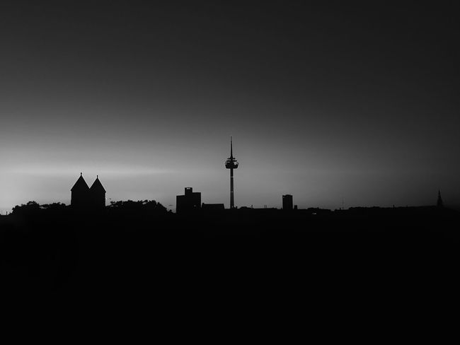 Architecture Built Structure Building Exterior Tower Silhouette Communication Travel Destinations City No People Outdoors Sunset Television Tower Television Industry Sky Cityscape Nature Day Blackandwhite Black And White Friday