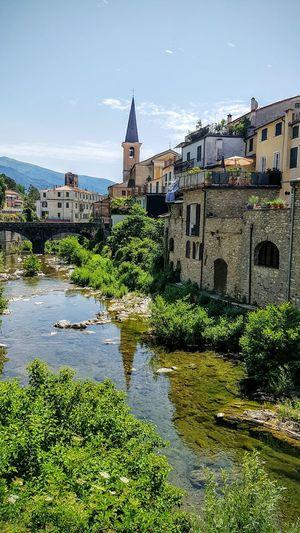 Borgomaro Italy Italia Bella Italia Village Village View Village Life Church River Riverside Bridge Architecture Travel Destinations History Clock Tower