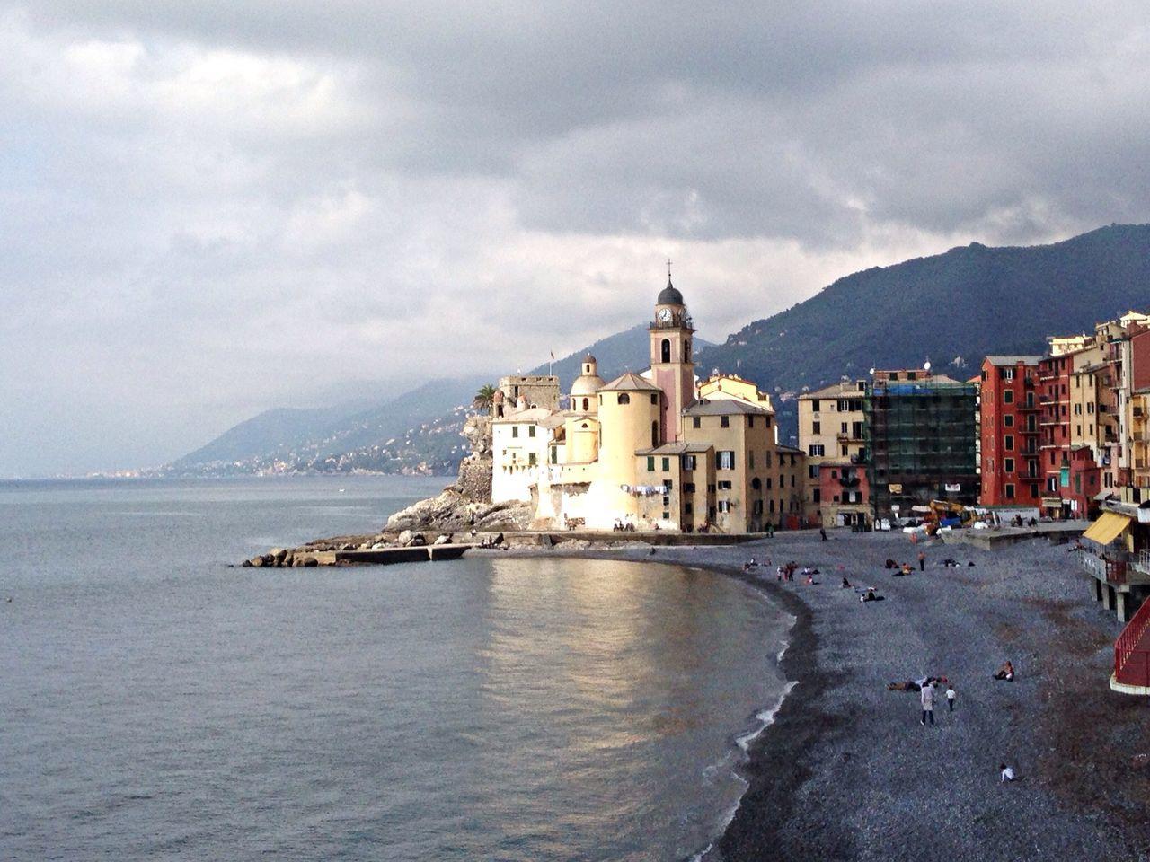 View of church of santa maria assunta from beach