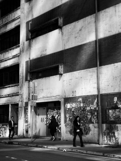 Building Exterior Architecture Built Structure Real People One Person Outdoors City Adults Only Day People Adult Architecture_bw IPhoneography Blackandwhite IPhone Black And White Photography Blackandwhite Photography Black And White HongKong Stories From The City