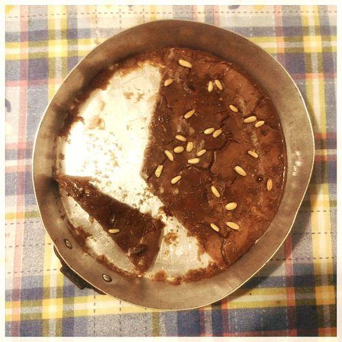 Castagnaccio. Castagnaccio Autumn Chestnut Food Italian Food From Above