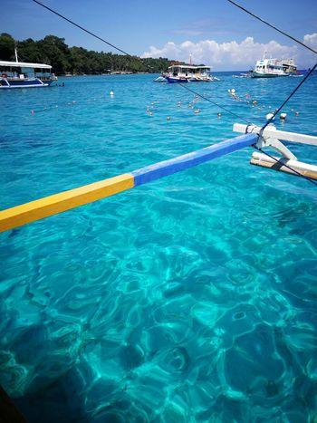 clear blue Philippines Davao Summer ☀ Beachphotography Samal Island Summertime Summer Views Summer Blue Water Nautical Vessel Sea Sailing Ship Blue Yachting Beach Sailing Ship Rippled