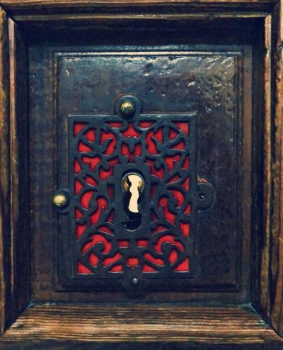 Cerradura Old Keyhole Lock Door Red No People Day Close-up Outdoors