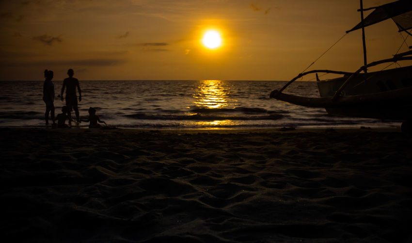 weekend Beach Beauty In Nature Horizon Over Water Nature Outdoors Scenics Sea Sky Sun Sunset Water Zambales, Philippines