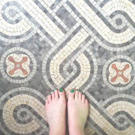 Lycée Racine Pieds Feets Mosaic Summer Nailart  Greennails Daydreaming Class Studying