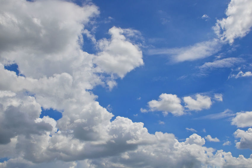 White cloud at atmosphere on blue sky as a background. Atmosphere Beautiful Cloud Heaven High Peace Weather Air Background Blue Climate Cloudscape Cumulus Daylight Environment Meteorology Moisture Nature Nebulosity Outdoor Scenics Season  Sky Tranquility White