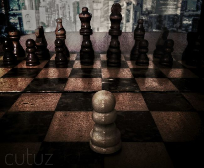 Chess Board Chess Chess Piece Cutuz Шахматы шахматнаядоска пешка один противвсех одинпротиввсех