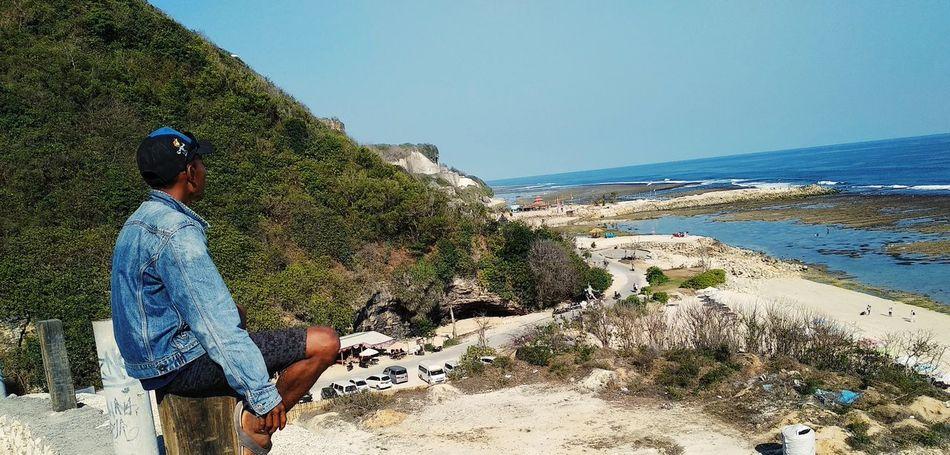 Melasti beach EyeEmNewHere Water Sea Beach Men Full Length Adventure Summer Sand Women Clear Sky A New Beginning