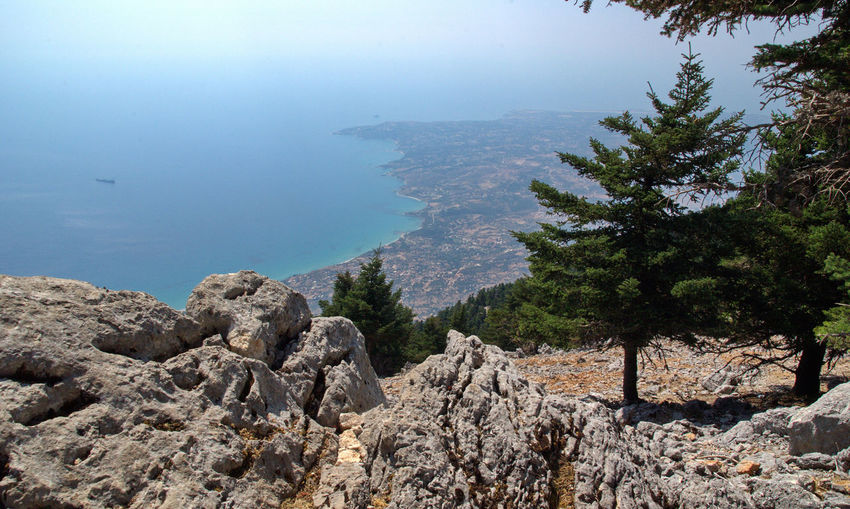 Panorama dal Monte Enos Sea Rock Water Beauty In Nature Rock - Object Nature Scenics - Nature Tranquil Scene Plant Solid Tranquility No People Day Land Tree Sky Mountain Rock Formation Outdoors Rocky Coastline Cefalonia Cefalonia Island Kefallonia Greece Greek Islands Greek Summer Greek Landscape Summer Island Abies Cefalonica Park Of Mount Enos Mount Enos
