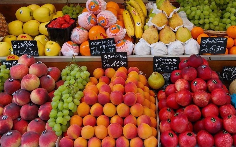 Fruit In Market Stall