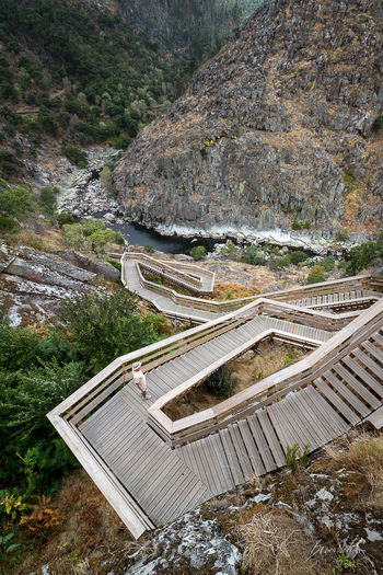 """""""Step Higher"""" 📷 Nature Outdoors Beauty In Nature Landscape Water High Angle View Portugal Bruno Neves EOS700D River People Man Stairs Stairways Paiva Hill Lost In The Landscape"""