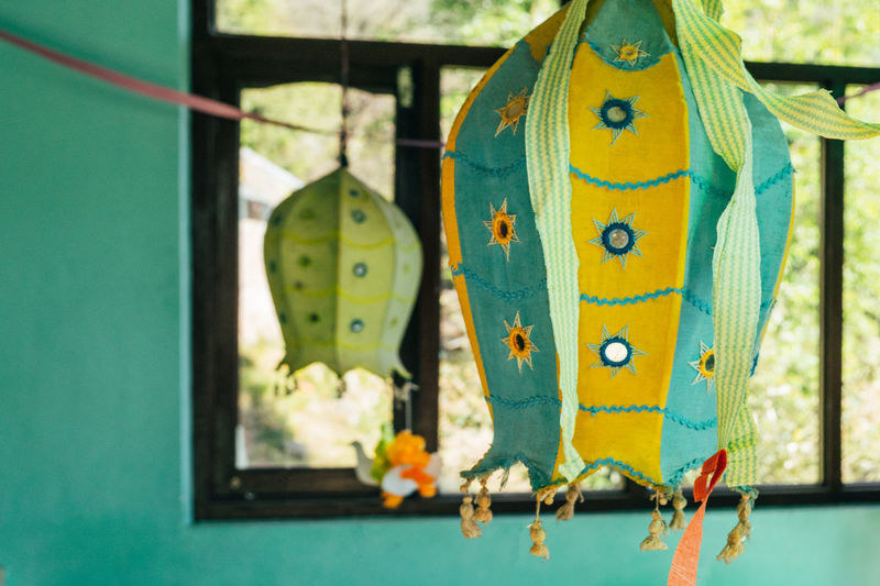 Close-up of decoration hanging outdoors
